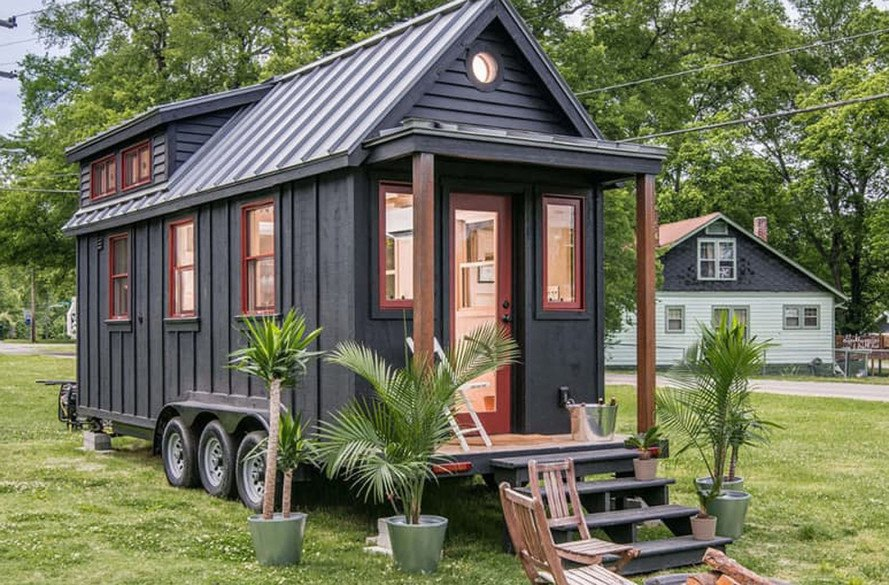 New Frontier Tiny Homes, Riverside tiny house, Tennessee, tiny house, green architecture, Scandinavian architecture, LED lighting, composting toilet, tiny spaces