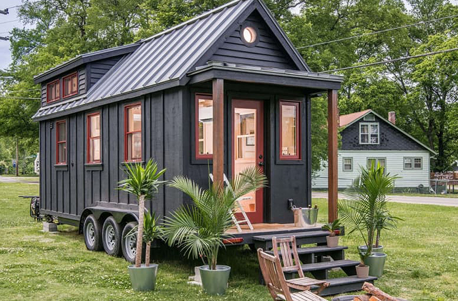 Towable Riverside Tiny House Packs Every Conventional Amenity Into 246 Square Feet