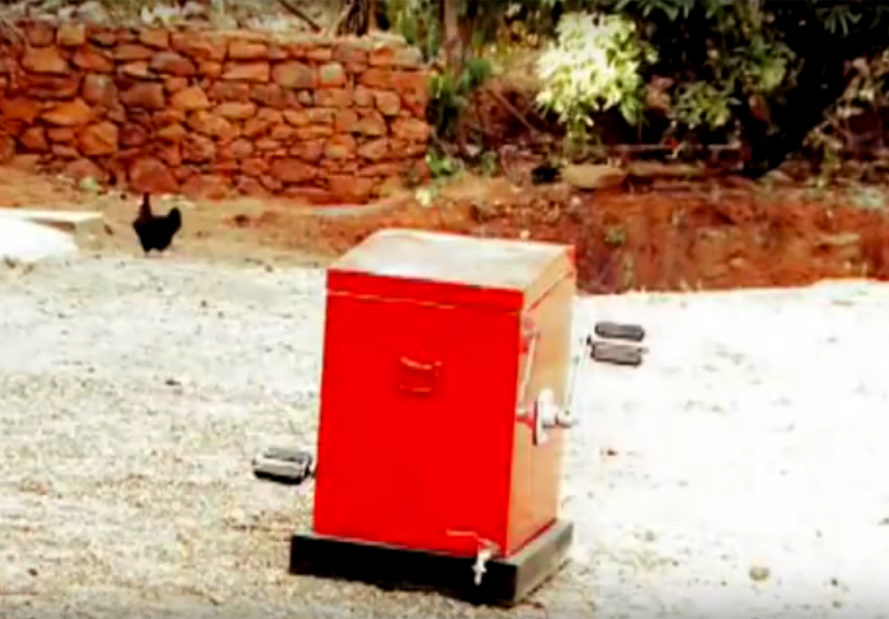 14-year-old girl invents pedal-powered washing machine from
