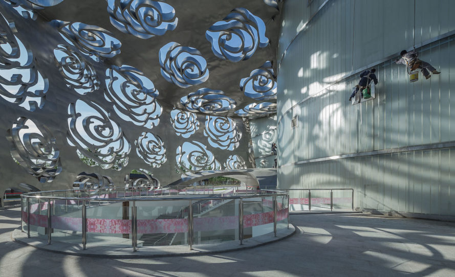 Beijing Rose Museum by NEXT Architects, Beijing Rose Museum, rose museum in China, rose museum architecture,