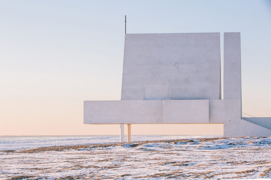 white stucco chapel, chapel design in China, Seashore Chapel by Vector Architects, Seashore Chapel in China, Seashore Chapel in Beidaihe
