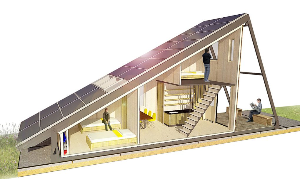 Solar Cabin Modular Refugee Housing With An Energy