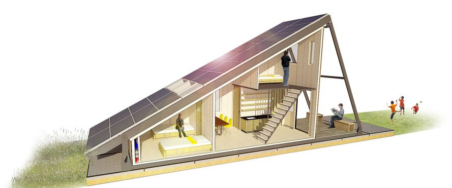Solar Cabin: modular refugee housing with an energy-generating solar ...