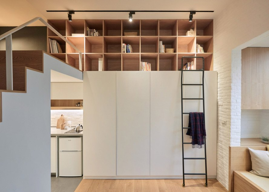 Taipei apartment design by A Little Design, Taipei renovation by A Little Design, tiny taipei apartment renovation, how to make a small apartment feel bigger, space saving design in tiny apartments