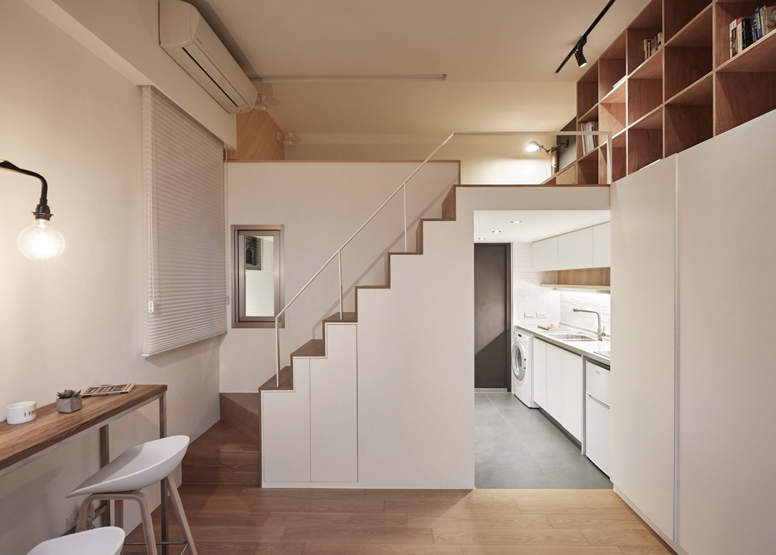 Smart Space Saving Design Transforms A Tiny Apartment In Taipei Into An Upscale Home