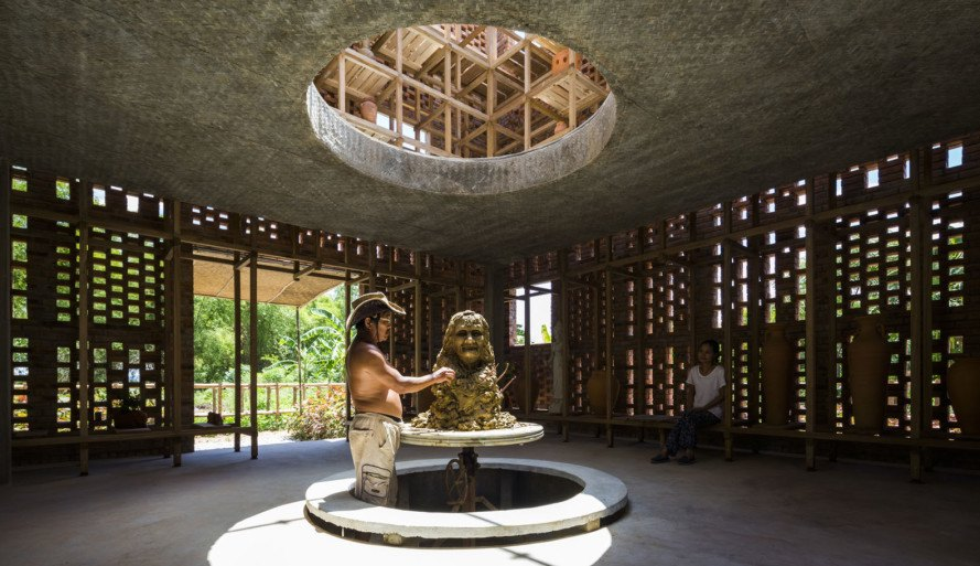 Le Duc Ha S Pottery Studio In Vietnam Is Sheltered By A