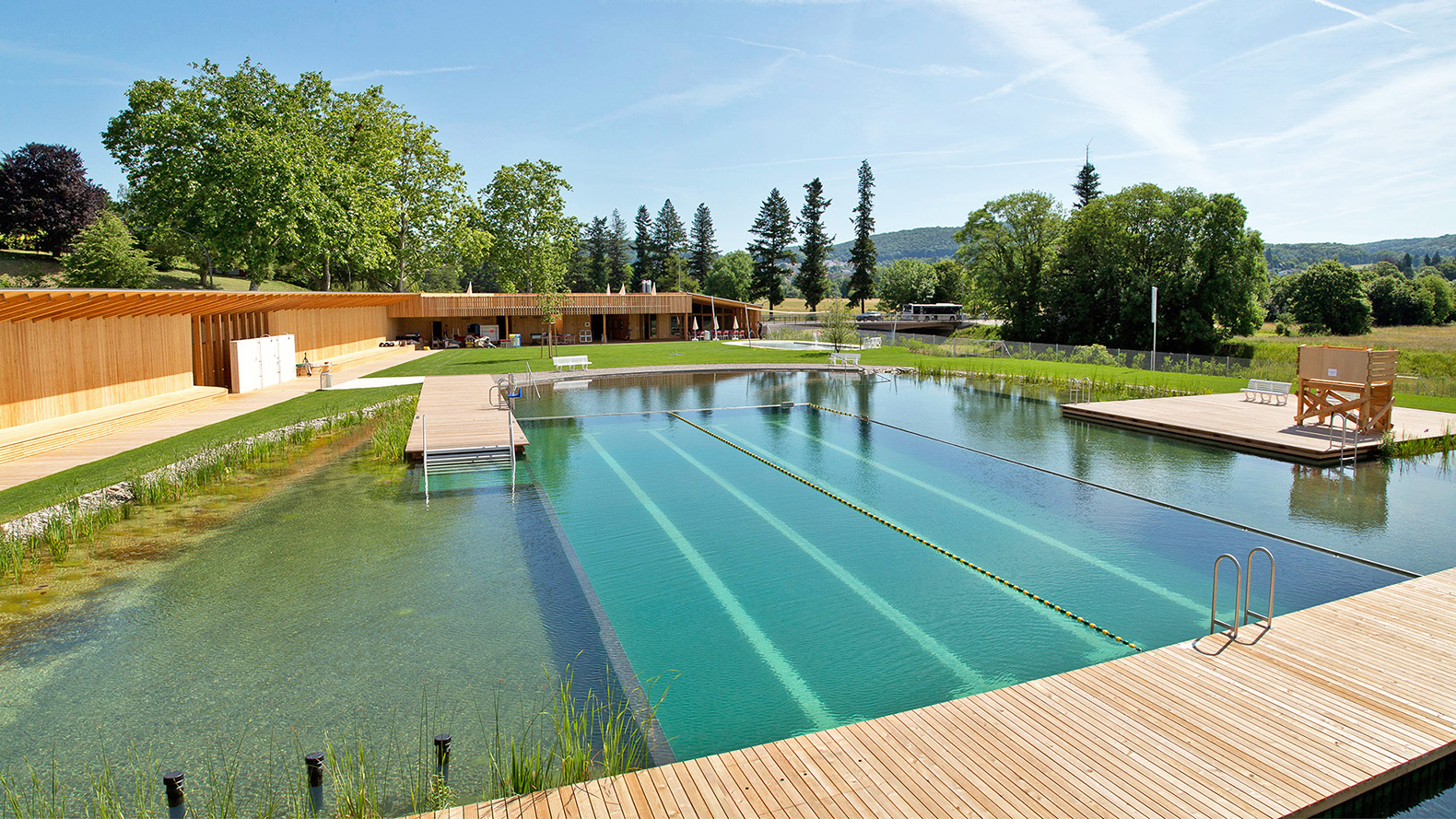 this gorgeous natural swiss pool proves we don t need to swim in chlorine naturbad riehen. Black Bedroom Furniture Sets. Home Design Ideas