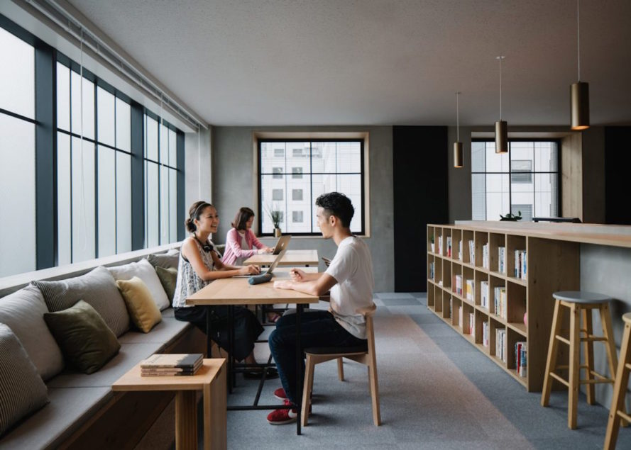 Airbnb Tokyo Office, Airbnb Tokyo Office design in Shinjuku, Airbnb interior office design, Airbnb Tokyo Office by Suppose Design Office