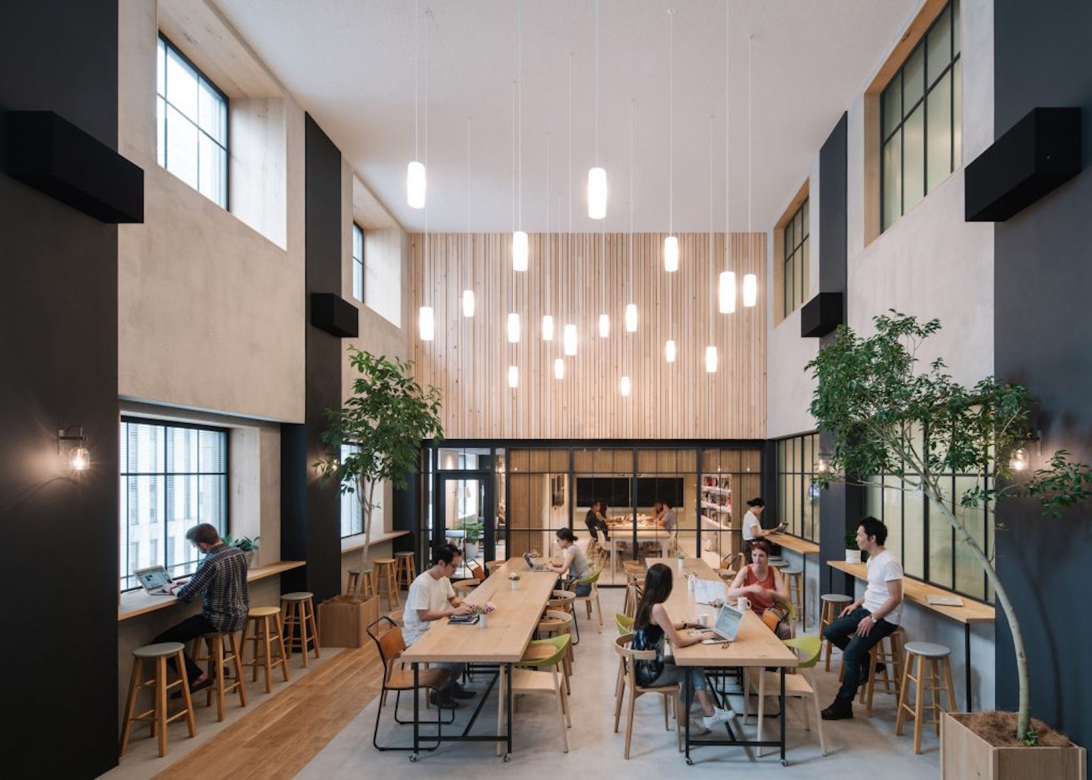 Japanese office design Seating Arrangement Plan Airbnb Launches Naturefilled Tokyo Office That Feels Like Beautiful Cozy Home Inhabitat Japanese Architecture