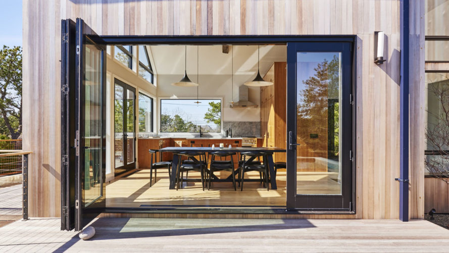 Studio Zung, Atelier 2016 residence, Hamptons, swimming pool, salvaged building materials, intelligent residence, luxury residence, Long Island, green architecture, oak flooring, wooden deck, traditional architecture