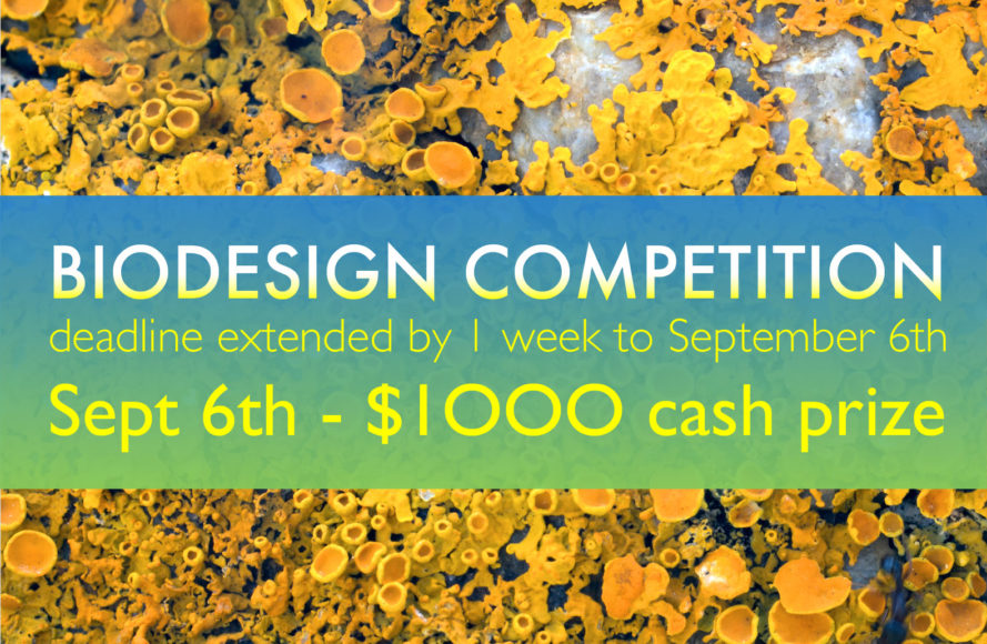 Biodesign Competition to ideate the X-Prize for regenerative building