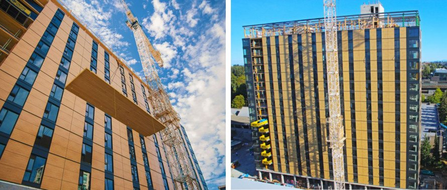 brock commons, acton ostry archtiects, timber building, tallest timber building, university of british columbia, brock commons construction