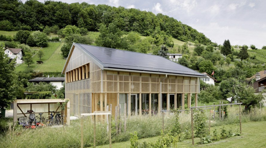 Casa C, HHF Architects, prefab home, Switzerland, solar powered, prefab, affordable housing, green architecture, insulation