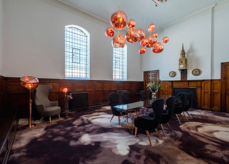 St. James Church, Tom Dixon, St. James Church by Tom Dixon, London, Clerkenwell Design Week, Clerkenwell, church, design, lighting, geometric, co-work, co-working, co-working space, co-working office, cowork, coworking, coworking office, coworking space, office, office space, work space