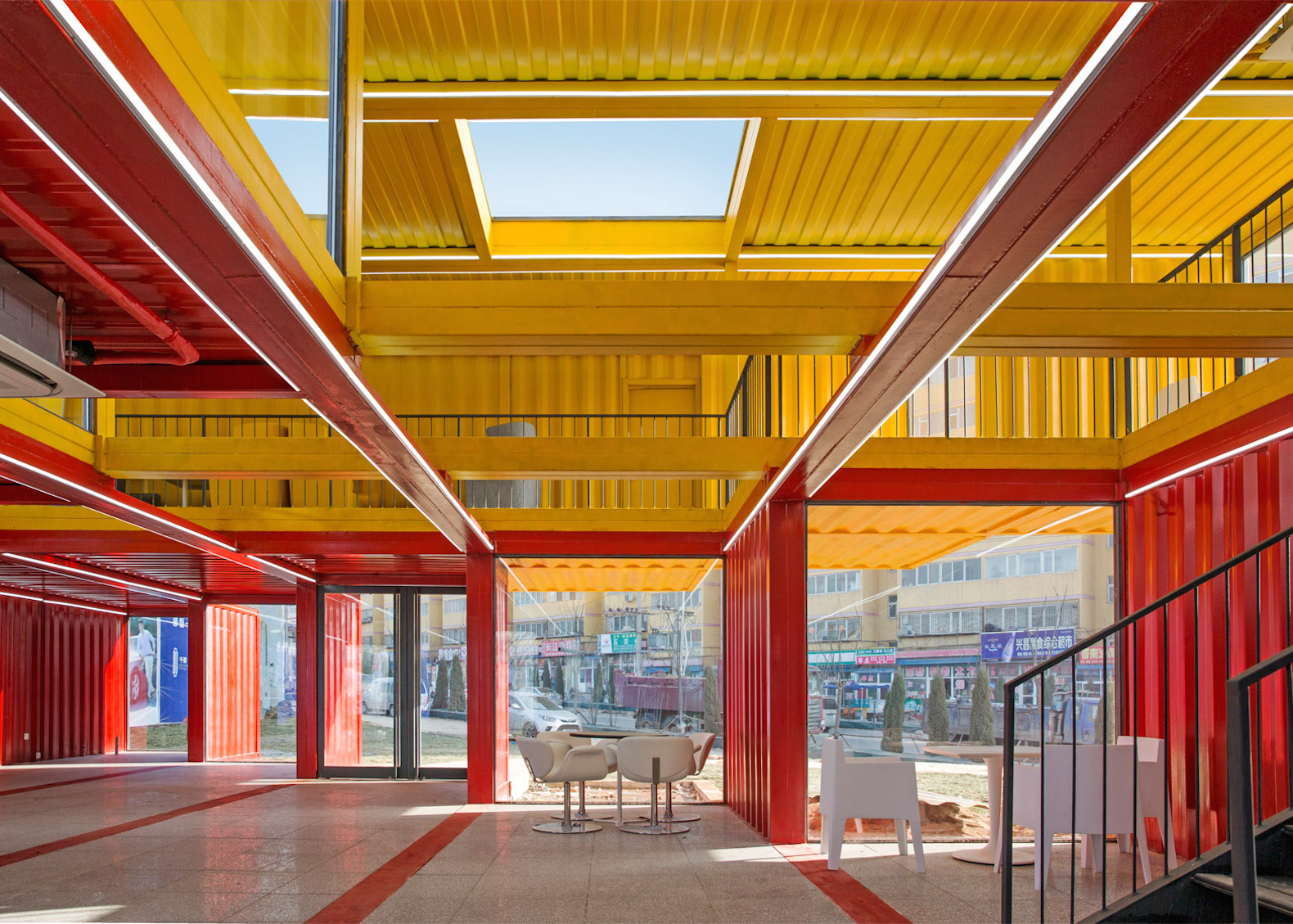 Container Stack Pavilion by People's Architecture Office