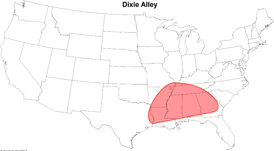 climate change tornadoes, tornado alley, dixie alley, tornadoes southeast, u.s. tornadoes and climate change, dixie alley tornadoes