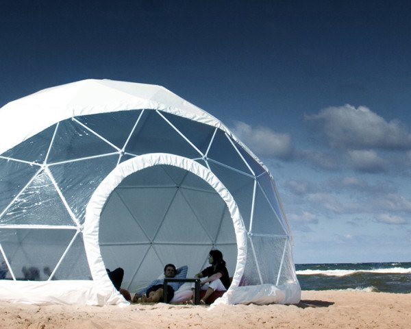 Create your own backyard geodesic dome with F  Dome's super