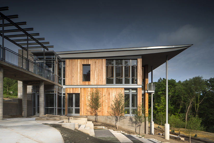 Frick Environment Center by Bohlin Cywinski Jackson, Pittsburgh sustainable architecture, Pittsburgh LEED architecture, Pittsburgh Living Building Challenge architecture, Living Building Challenge buildings in the U.S., net zero energy Pittsburgh