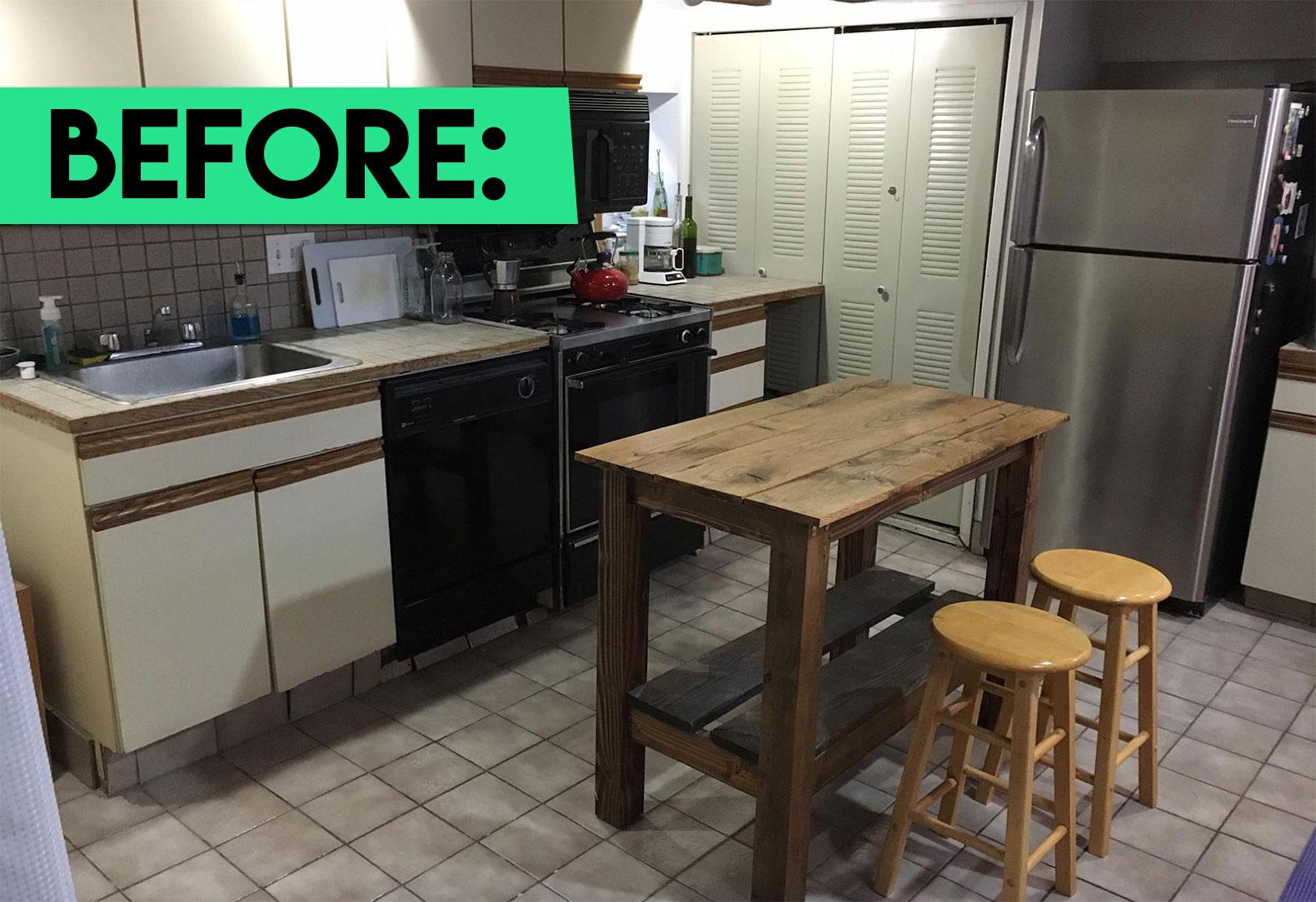 Friends Give Their Kitchen A Green Makeover Filled With Fun Upcycled Touches