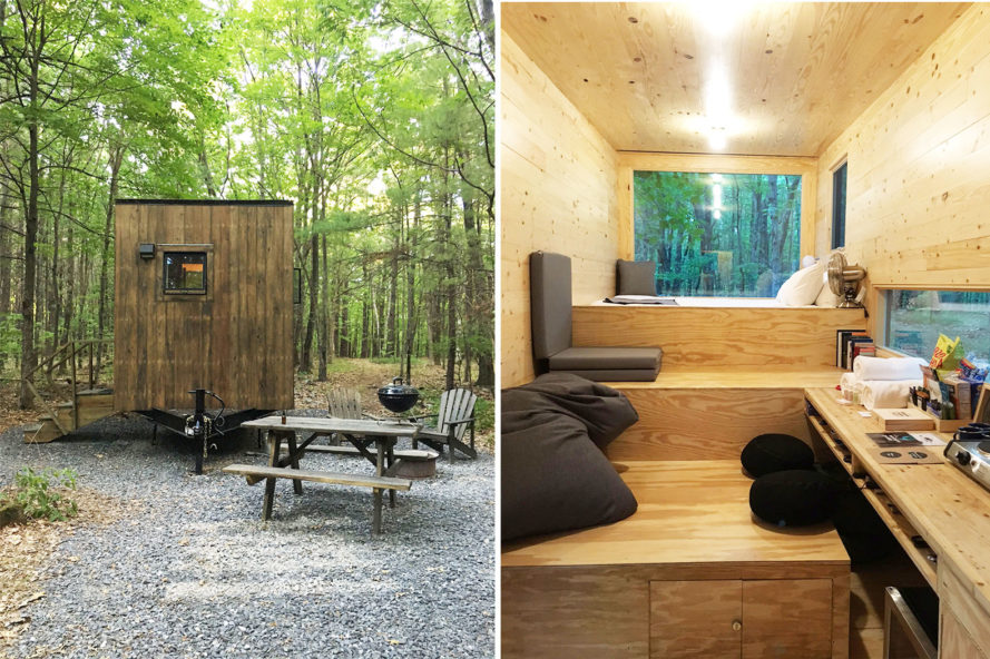 a getaway in cabin maisie designed inhabitat night the cabins harvard new spends tiny york woods