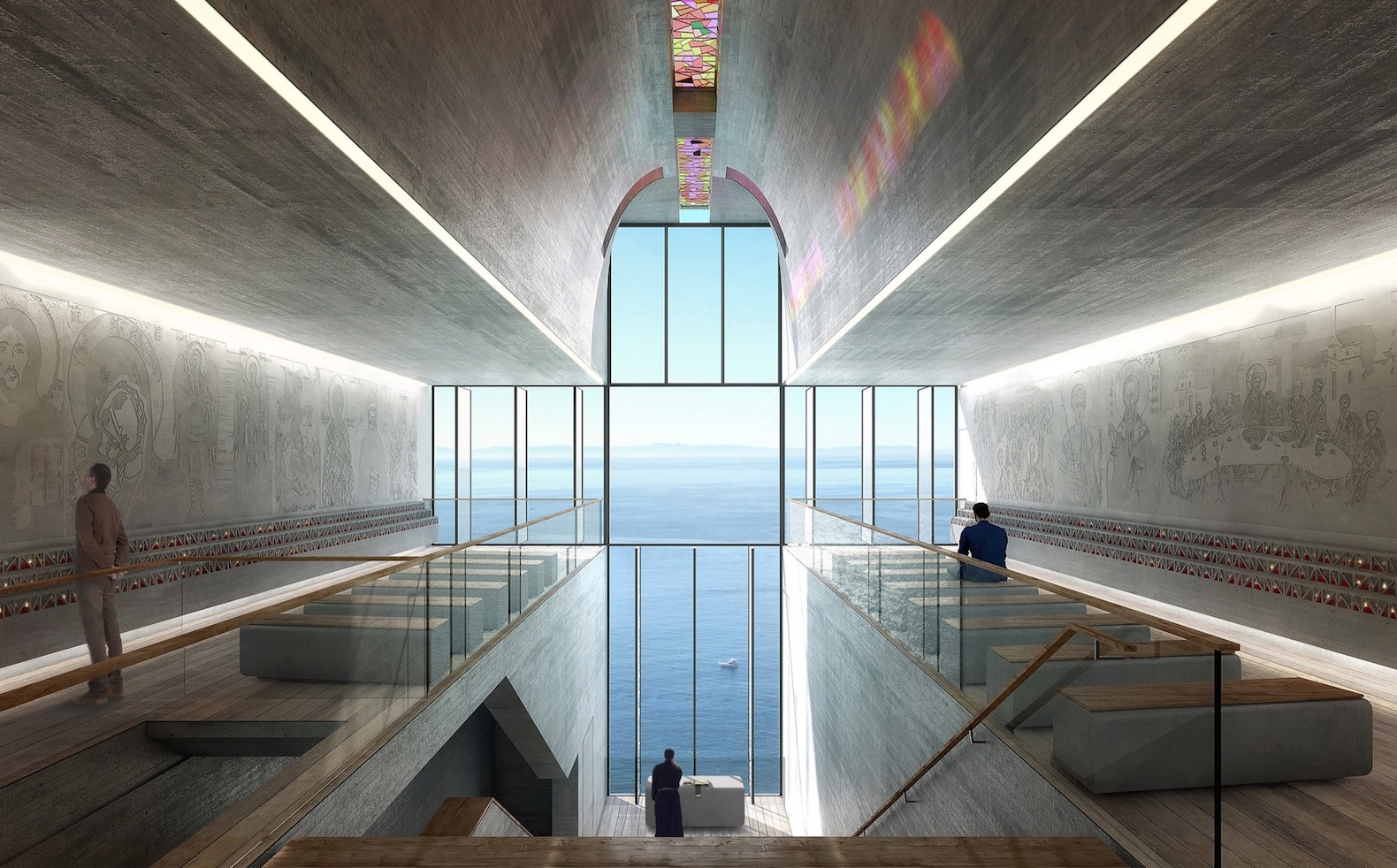 Breathtaking chapel clings to the cliffside for transcendent sea views