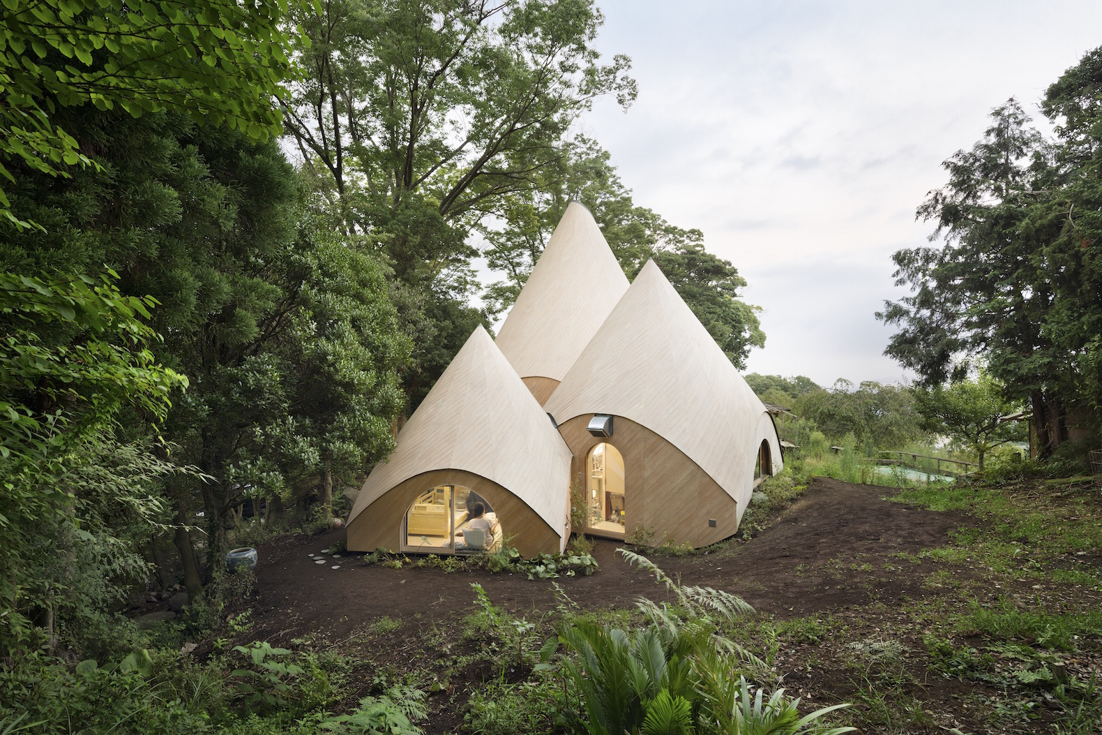 Dreamy teepee-shaped huts cater to the elderly in a Japanese forest