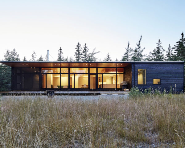Lockeport Beach House by Nova Tayona Architects, Nova Scotia beach house, passive solar beach house, rainwater harvesting beach house, Lockeport Beach House