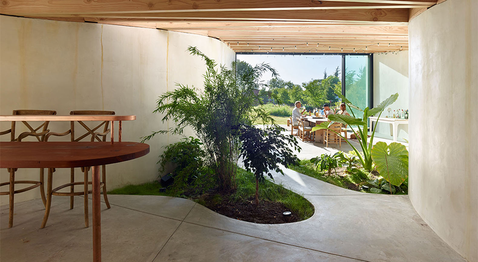 A daylit extension with a lush indoor garden grows out of an casper mork ulnes meier rd house artists studio northern california green workwithnaturefo
