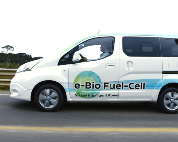 nissan, nissan e-Bio fuel cell prototype, fuel cell, fuel cell vehicle, nissan e-nv200, ethanol, ethanol-blended water, Rio 2016 Olympics, electric car, green car, electric motor