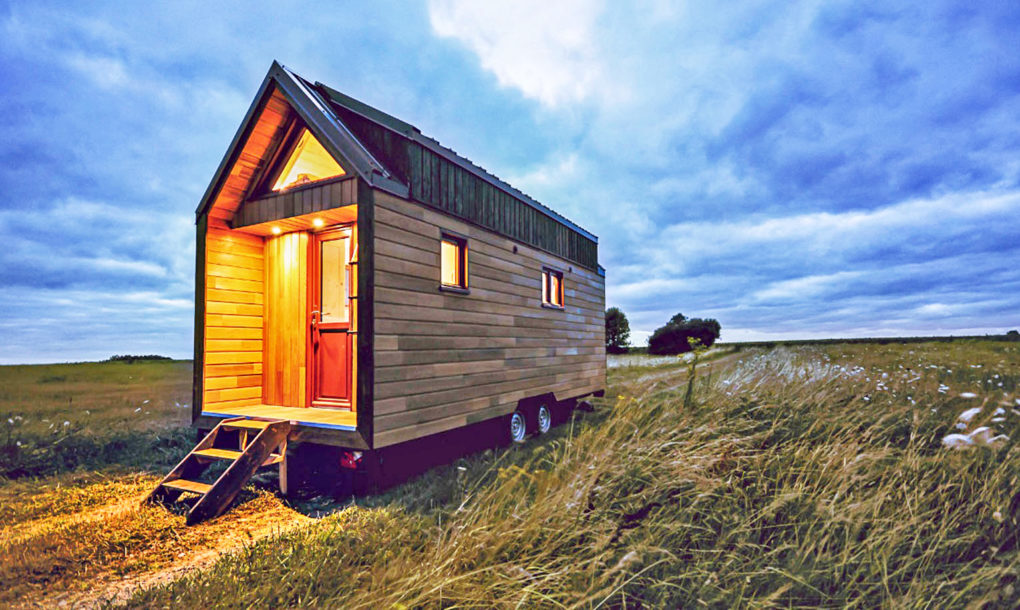 fully furnished odyss e tiny house from france easily fits. Black Bedroom Furniture Sets. Home Design Ideas