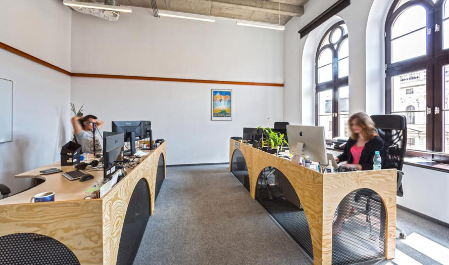 Opera Software headquarters, green headquarters, Poland,  Mode:lina Architekci, office space, from recycled materials, green design, interior design, reused materials