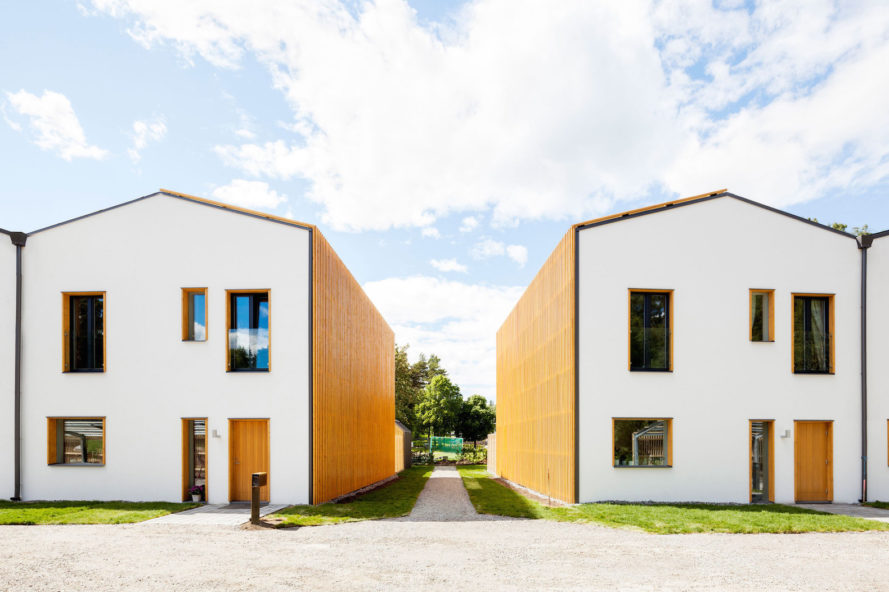 Power to the People by Street Monkey Architects, solar powered row homes, net zero row homes, net zero energy houses in Sweden, solar powered prefab homes