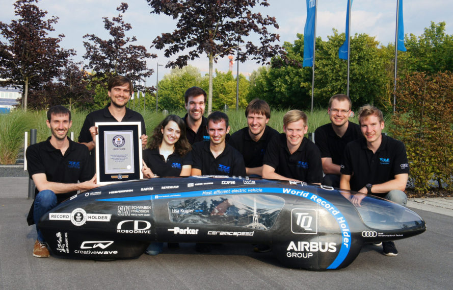 World's most efficient electric vehicle, guinness world record, TUfast eLi14, germany, technical university of munich, shell eco marathon, mpge rating