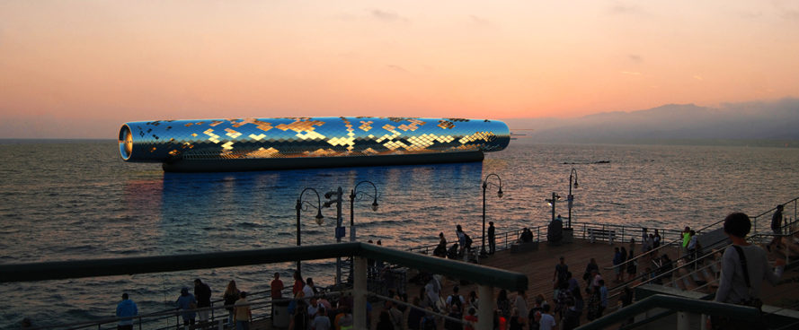 The Pipe, LAGI 2016, LAGI 2016: Santa Monica, Santa Monica Pier, The Pipe Santa Monica Pier, Khalil Engineers, solar powered desalination, solar-powered electromagnetic desalination, energy and thermal baths, land art generator initiative design competition, LAGI,