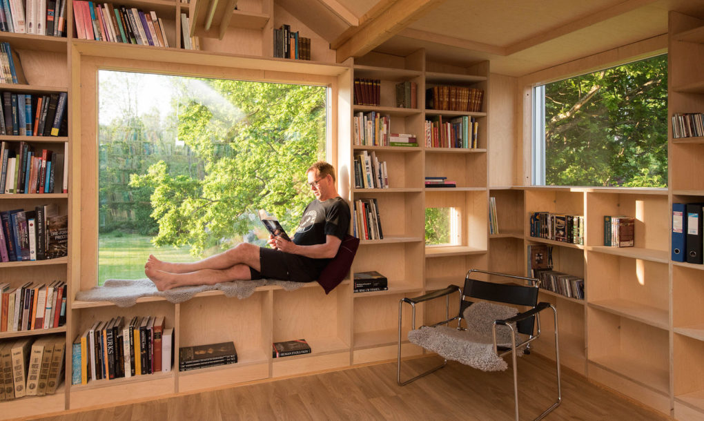 Old Garage Is Transformed Into A Daylit Treehouse Like