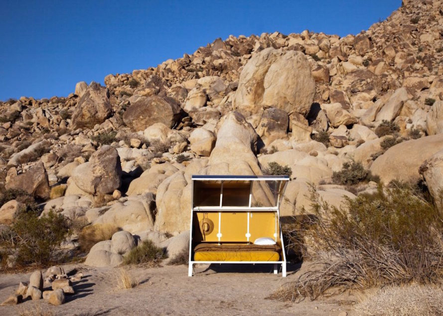 Andrea Zittel, Wagon Station Encampment, composting toilet, open air shower, off grid artist residency, artist residency, camping pod, pod architecture, Joshua Tree, Wagon Station, A-Z Wagon Station