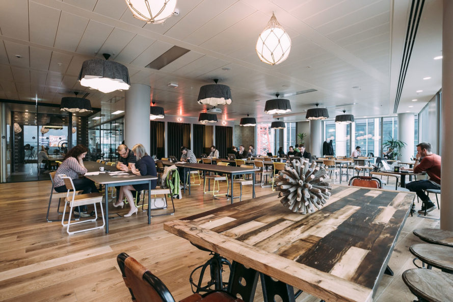 wework, welive, co-working spaces, co-living spaces, co-working design, communal design