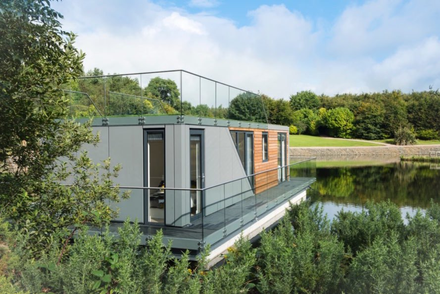 Bluefield Houseboats, energy efficient houseboats, passive design houseboats, prefab houseboats, modular houseboats, energy efficient floating homes, floating homes by Bluefield, prefabricated houseboats,
