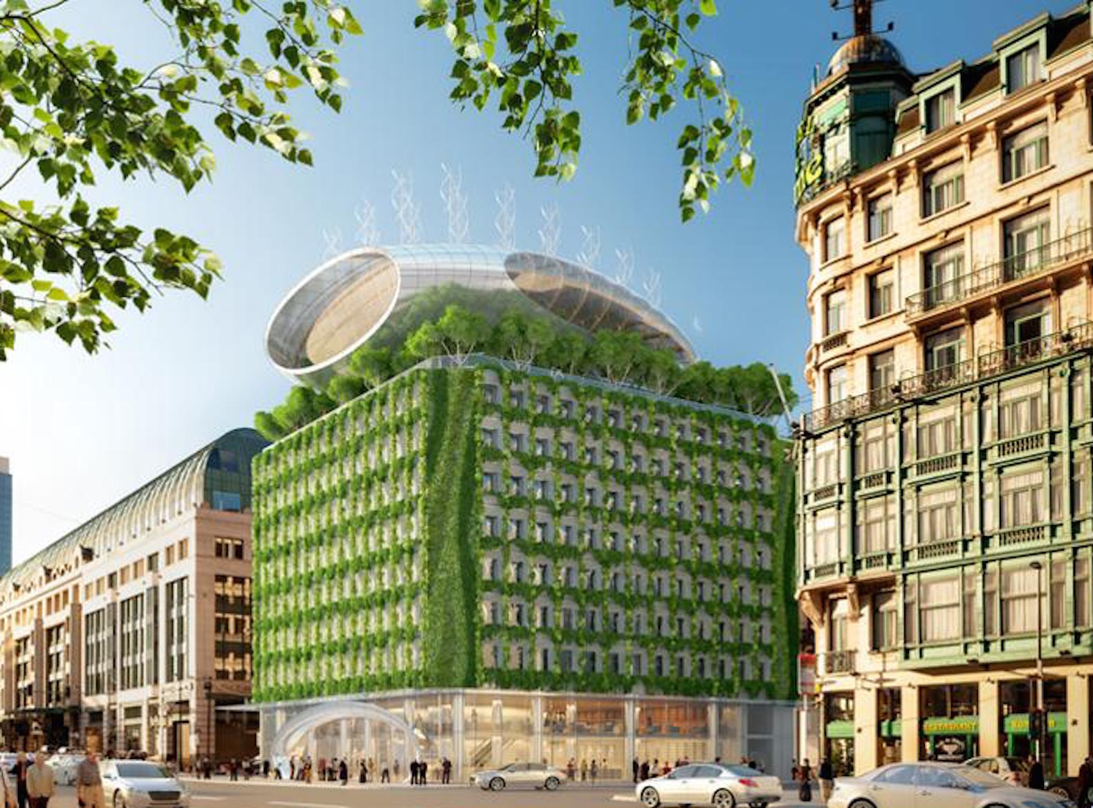 Vincent Callebaut's Botanic Center fights urban smog and harvests clean energy