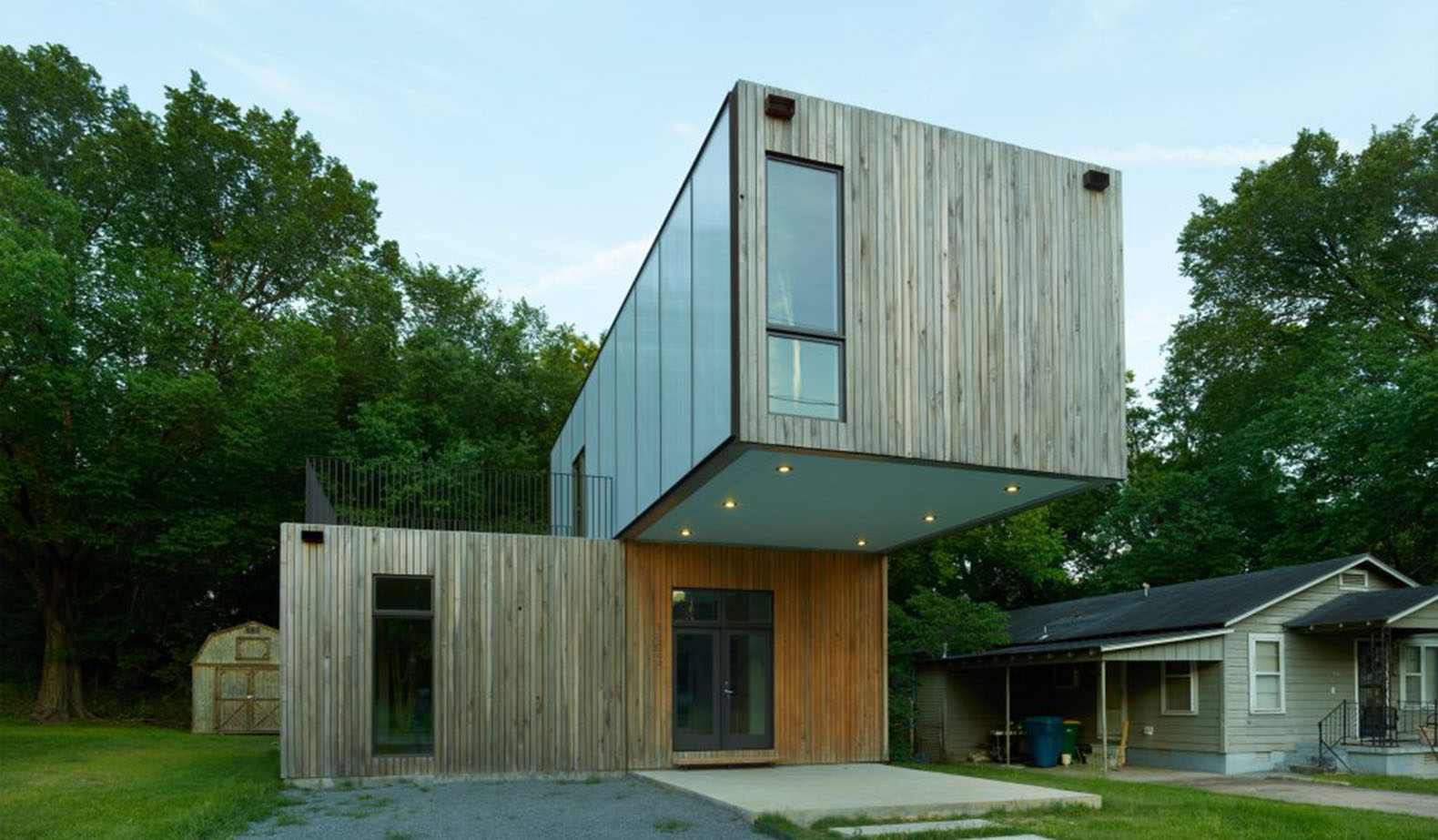 Cantilever House, Prefab House, Little Rock, Affordable Housing, Prefab Home,  Arkansas