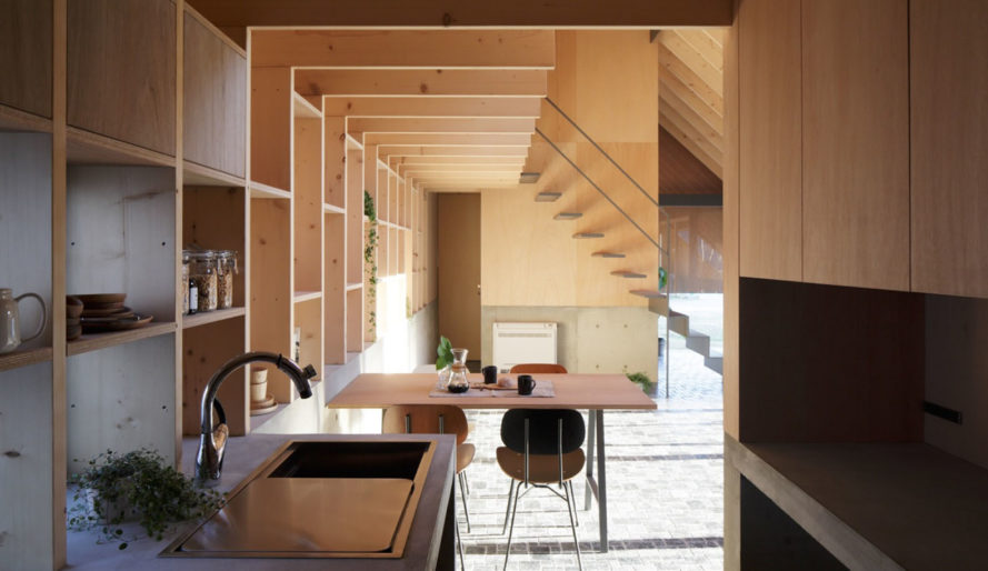 mA-style architects, Eaves House, mono-pitched roof, Japan, Alero House, Japan, green architecture, skylights, wooden structure, natural light