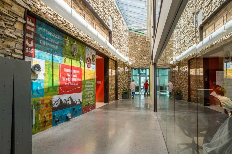 clif bar, idaho, biophilic design, sustainable design, manufacturing facility, native plants, onsite water pre-treatment