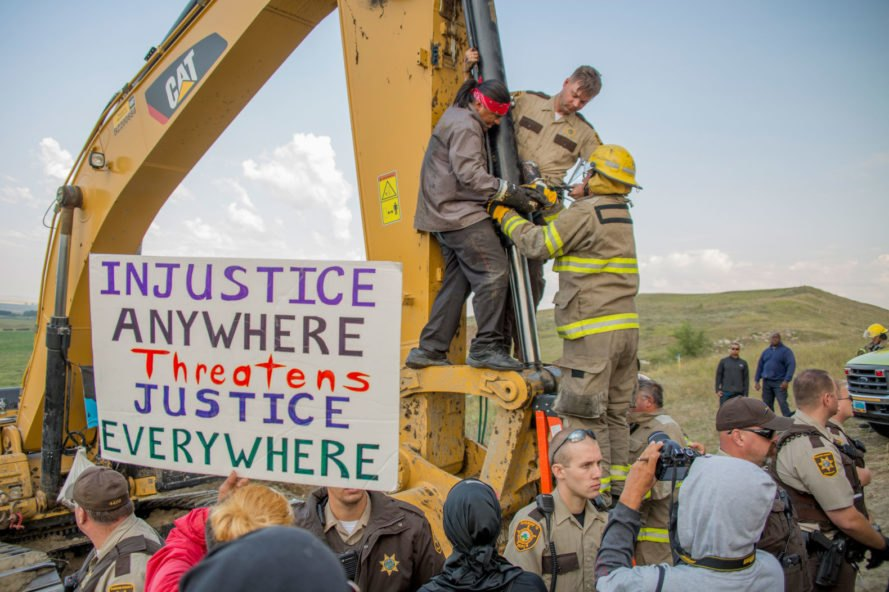 Protestors at the Standing Rock Reservation