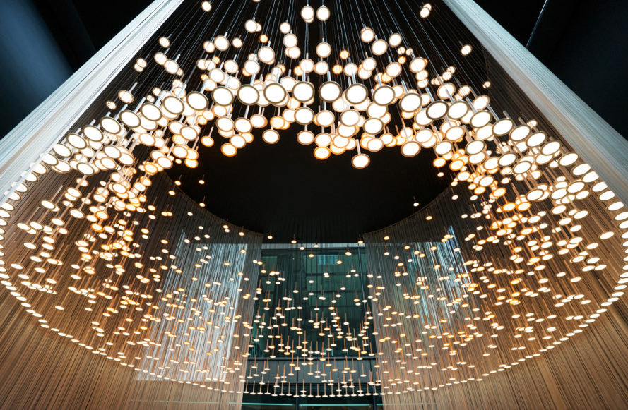 Blackbody fire ring oled led chandelier london design festival ldf