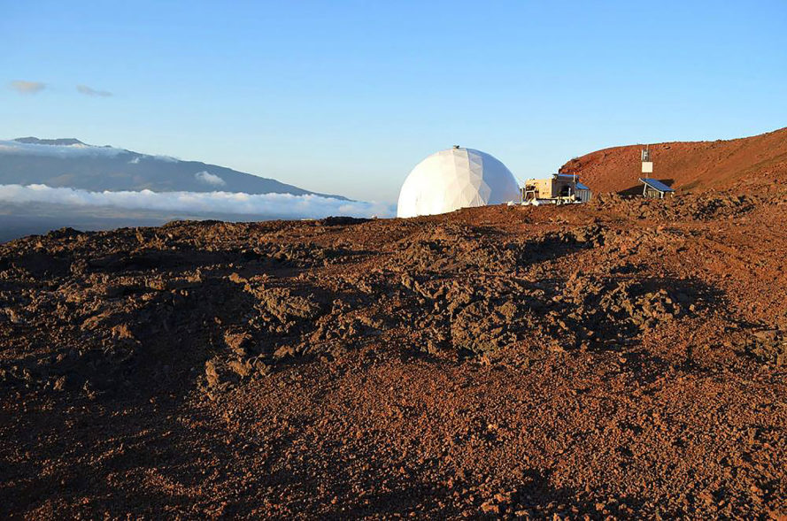 HI-SEAS, Hawaii Space Exploration Analog and Simulation, University of Hawaii at Manoa, NASA, Mars, Mars mission, Hawaii Mars mission, Hawaii, Mauna Loa, dome, solar power