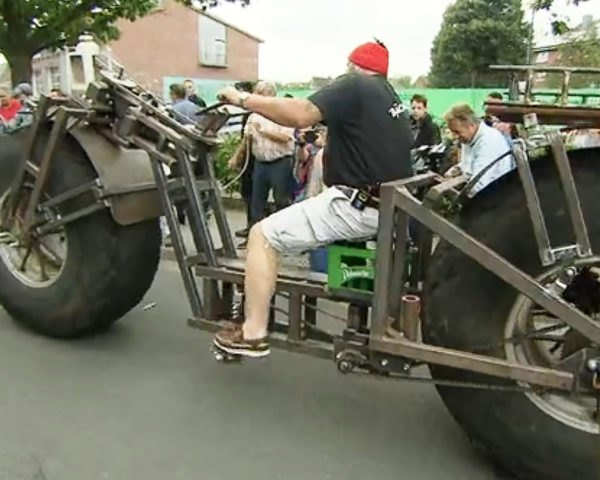 Bicycle, bike, heaviest bicycle, heaviest bike, heavy bicycle, heavy bike, Frank Dose, world record, Germany