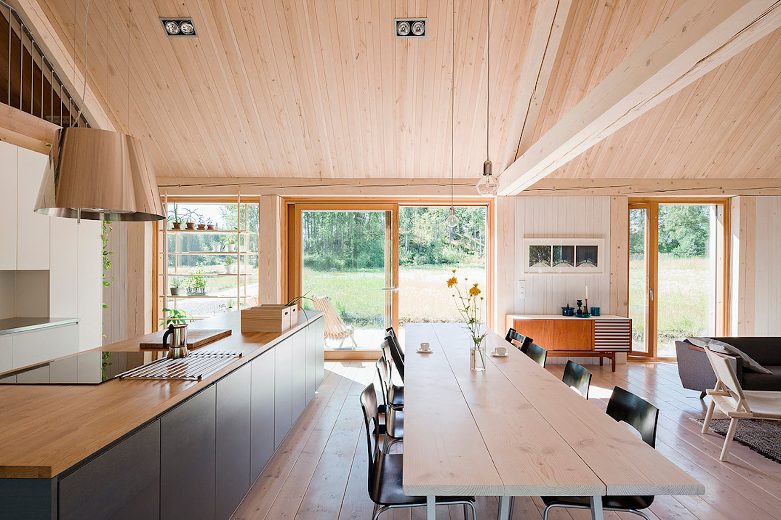 House Åkerudden by MNy Arkitekter, contemporary timber architecture, modern gabled architecture, Tenala architecture, Finnish lakeshore architecture