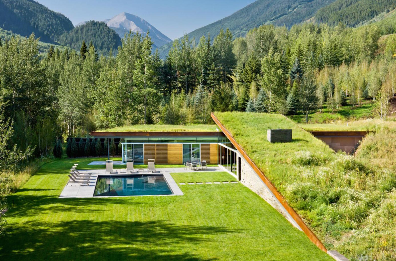 Green-roofed Colorado home is buried into the earth to save energy
