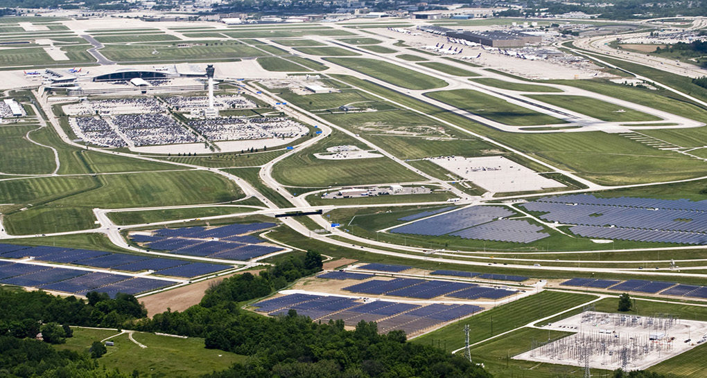 Ind Solar Farm Is The World S Largest Airport Based Solar