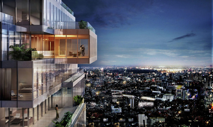 MahaNakhon, Büro Ole Scheeren, Office for Metropolitan Architecture(OMA), tallest building, Thailand, mixed-use tower, Bangkok, green architecture, public garden, Ritz-Carlton Residences